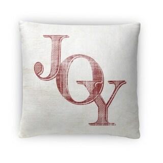 Kavka Designs ivory/ red joy fleece throw pillow