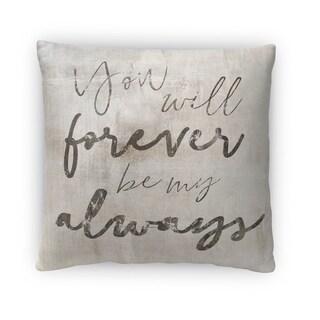 Kavka Designs beige/ grey/ black be my always fleece throw pillow