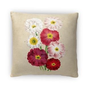 Kavka Designs beige/ pink/ red/ yellow flower fleece throw pillow