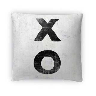 Kavka Designs black/ grey xo fleece throw pillow
