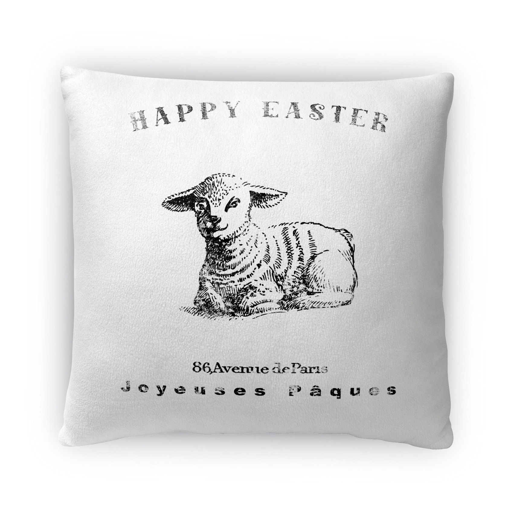Kavka Designs black/ white easter lamb throw pillow (16 x 16)