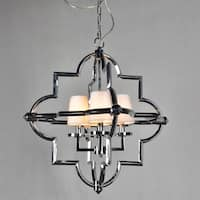Y-Decor 4 Light Chandelier in Chrome Finish