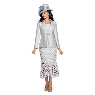Giovanna Signature Women's Laser Cut Out Detail 3-Piece Skirt Suit
