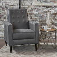 Ethan Tufted Bonded Leather Recliner Chair By Christopher