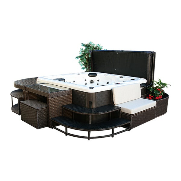 Canadian Spa Love Seat - Square Spa Surround Furniture