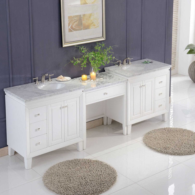 103 Silkroad Exclusive V0320ww103d Bathroom Vanity Carrara White Marble Top Single Sink Cabinet Bathroom Vanities Tools Home Improvement Sailingschool Pl