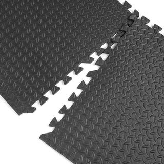 Set of 6 EVA Foam Floor / Exercise / Gym / Playground Black Mat