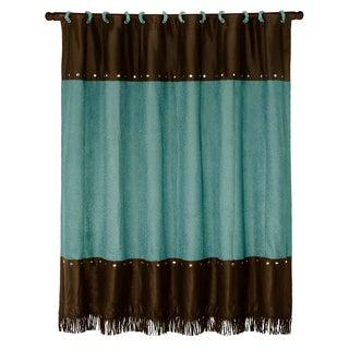 HiEnd Accents Cheyenne Shower Curtain 72 X 72 Turquoise