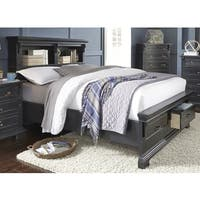 Lyke Home Lawson Black Storage Bed Free Shipping Today