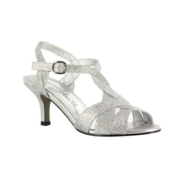 Shop Easy Street Women s Glamorous Evening Shoe (Silver Glitter ... 04251e1e3249