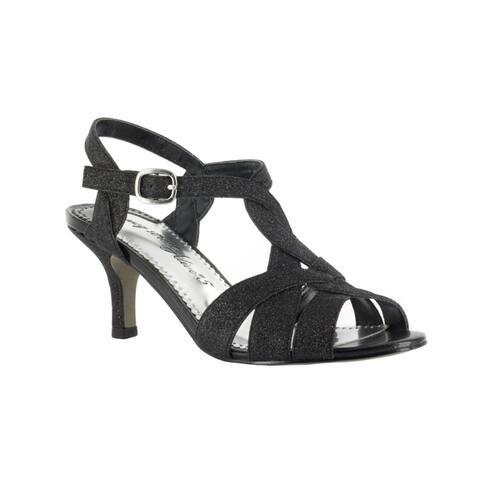 Easy Street Women's Glamorous Evening Shoe (Black Glitter)