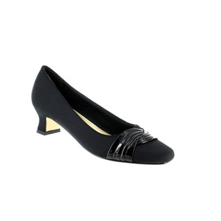 Easy Street Women's Tidal Pump (Black Micro With Leather Sole)