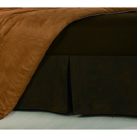 Hiend Accents Faux Leather 16-inch Drop Bedskirt