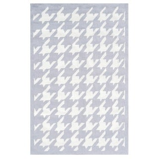 Houndstooth Light Grey/ Area Rug (8'x10')