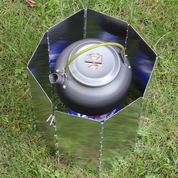 Portable Foldable Aluminium OUTAD Windscreen For Camp Stove