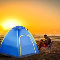 Hexagonal Waterproof Outdoor Camping Pop up Tent - Blue