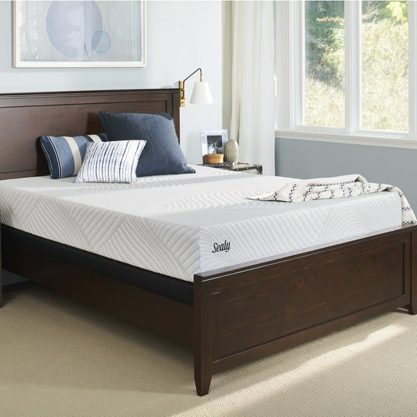 Sealy Conform Essentials 11.5-inch Plush Gel Memory Foam Mattress Set. Opens flyout.