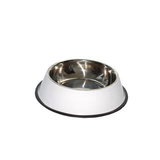 Purrrfect Life Dog Bowl 62 Ounce Stainless Steel with Rubber Base