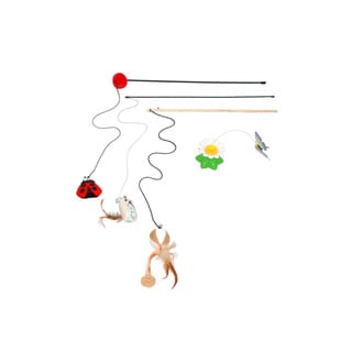 Purrrfect Life Cat Wand and Fly by Spinner Interactive Cat Toy Set