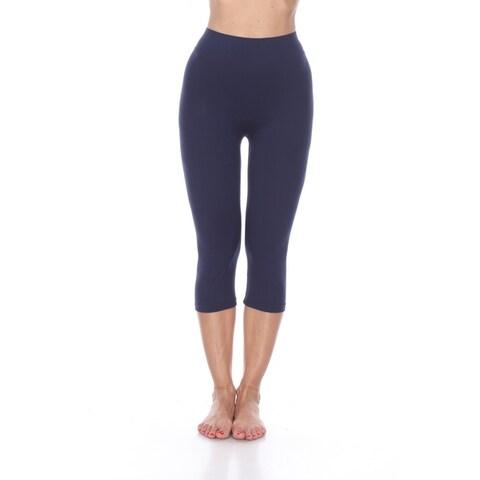 White Mark Women's Super Soft Capri Leggings
