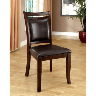 Furniture of America Clemmine Contemporary Leatherette Espresso Dining Chair (Set of 2)
