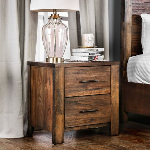 Carbon Loft Marquez Rustic Oak 2-drawer Nightstand