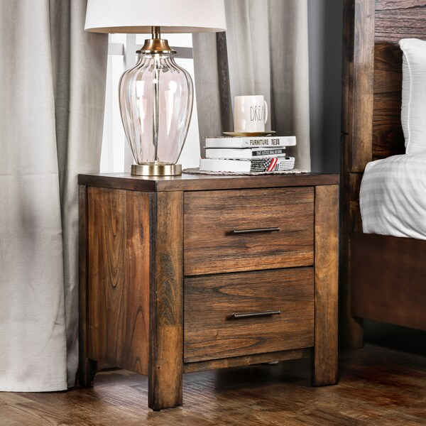 Furniture of America Casso Rustic Oak 2-drawer Chest