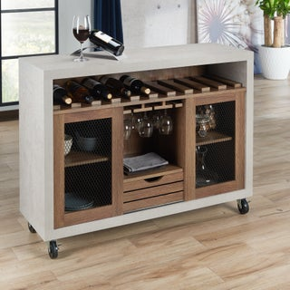 Furniture of America Gelenan Industrial Cement-like Multi-storage Buffet