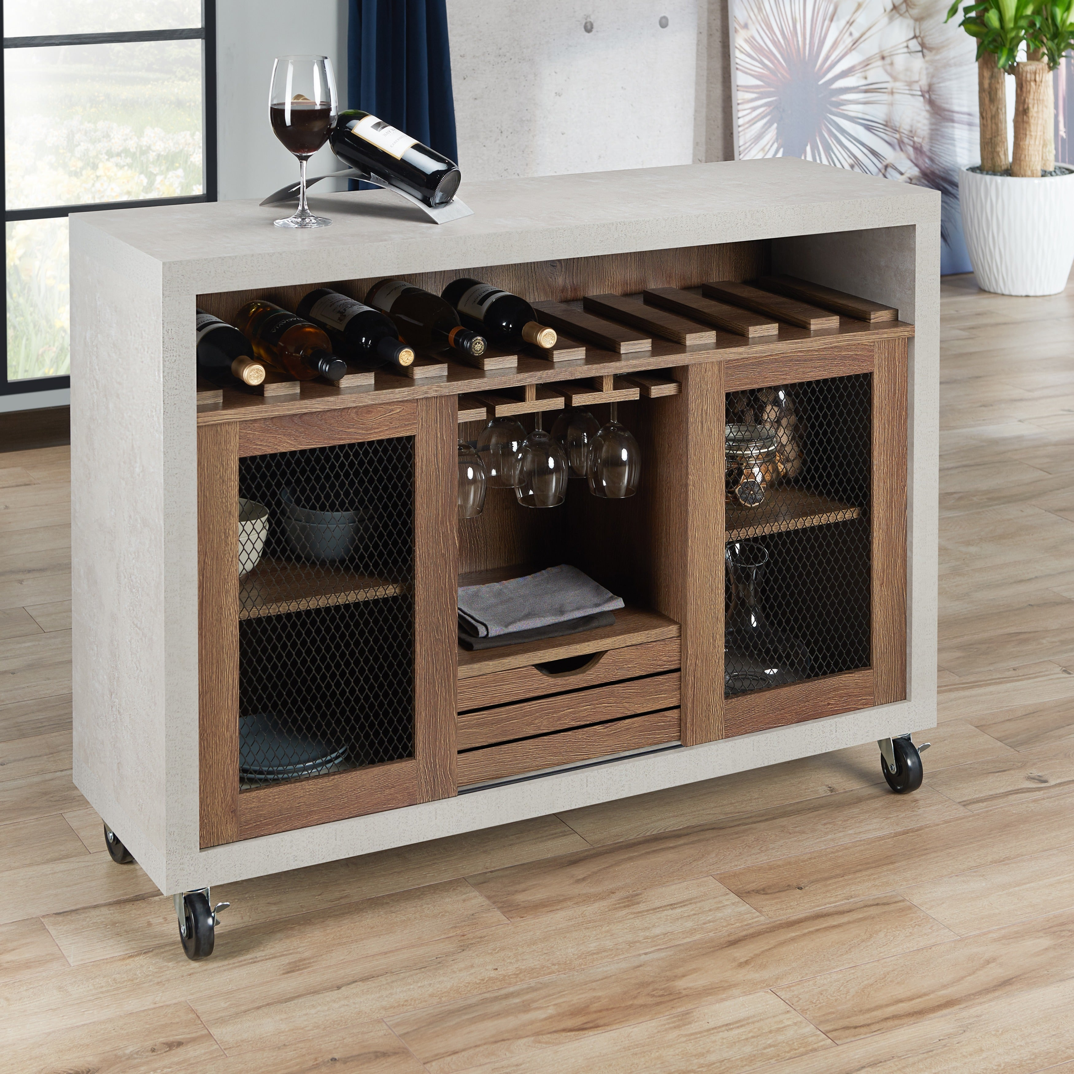 Finest Cool Furniture Of America Gelenan Industrial Cementlike Buffet With  Sideboard Fr Kche With Kche Loft Style With Highboard Fr Kche With Kche ...