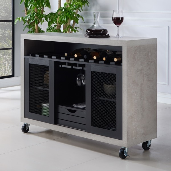 Black Kitchen Units Sale: Shop Furniture Of America Gelenan Industrial Cement-like
