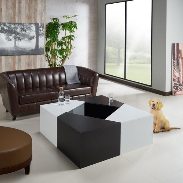 Shop Clerington Modern White Modular Coffee Table By FOA