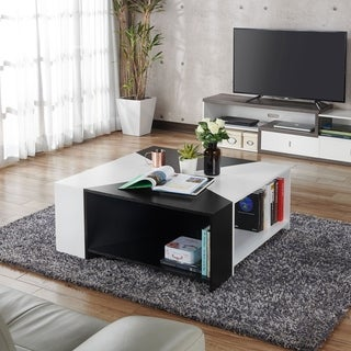 Furniture of America Piaz Modern White Open Storage Coffee Table