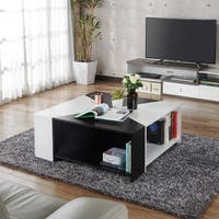 Furniture of America Clerington Modern Two-tone Black/White Modular Coffee Table