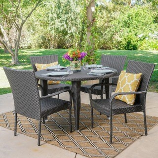 Seal Outdoor 5-piece Round Dining Set by Christopher Knight Home