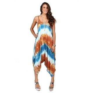Xehar Womens Drop Crotch Tie Dye Jumpsuit