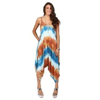 Xehar Womens Drop Crotch Tie Dye Jumpsuit|https://ak1.ostkcdn.com/images/products/16994886/P23277531.jpg?impolicy=medium