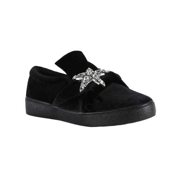 4f2e095300f Shop Xehar Womens Embellished Star Slip On Loafer Sneaker - Free ...