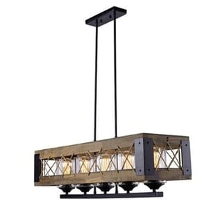 Lnc Home  Light Wood Kitchen Island Pendant