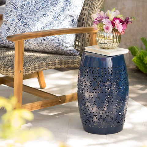 Ruby Outdoor 12-inch Round End Table by Christopher Knight Home