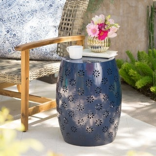 Link to Soleil Outdoor 15-inch Round End Table by Christopher Knight Home Similar Items in Outdoor Coffee & Side Tables