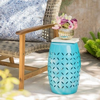 Lilac Outdoor 12-inch Round End Table by Christopher Knight Home