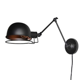 LNC Industrial Adjustable Wall Sconce Plug-In Wall Lamp