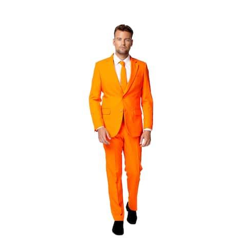 OppoSuits Men's The Orange Solid Suit