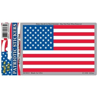 US Flag Patriotic Car Decal