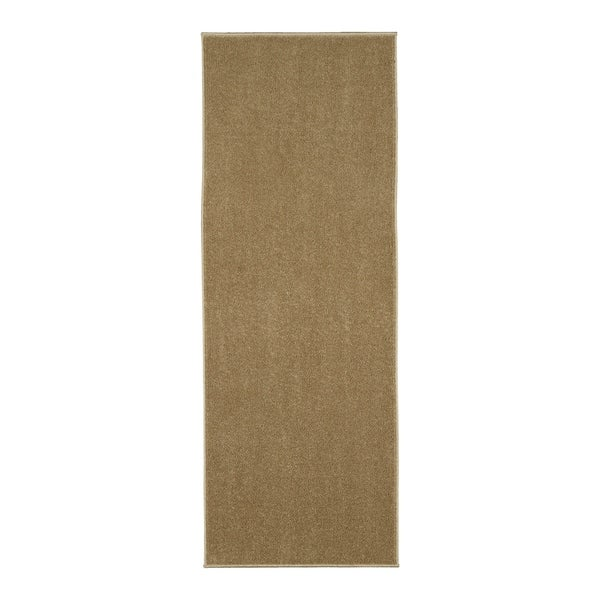 Berrnour Home Loft Collection Solid Shag Bathroom/Kitchen Runner Rug