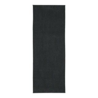 Berrnour Home Loft Collection Solid Shag Bathroom/Kitchen Runner Rug