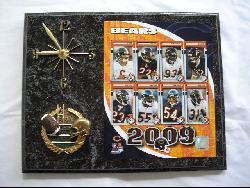 Chicago Bears Team Picture Plaque Clock - Thumbnail 1