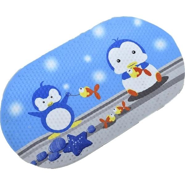 Evideco Anti Slippery Rubber  BathTub Mat Penguin