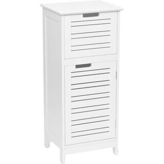 Evideco Bathroom Free Standing Storage Floor Cabinet Miami White