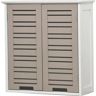 Evideco Bathroom Wall Mounted Storage Cabinet Wood So Romantic Taupe